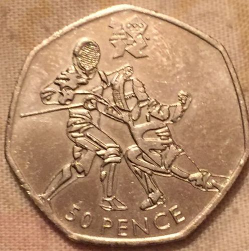 2012 #olympic 50p coin #fencing,  View more on the LINK: 	http://www.zeppy.io/product/gb/2/141869737066/
