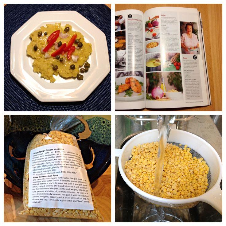 Kulinarisches zum Ende der Santorini-Gedächtniswoche ;-) – oder – Fava, gelbe Erbsen á la Santorini | Lilamalerie.de