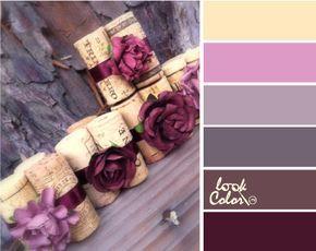 Арт-декор: Винтажное сочетание серо-лиловых оттенков с солнечно-желтым и баклажановым. Это светло-абрикосовый цвет (теплый желтый цвет), сиренево-розовый (холодный розовый цвет), серо-лиловый и антрацитовый (теплый серый цвет), светлый коричнево-фиолетовый (теплый коричневый) и баклажановый цвет.