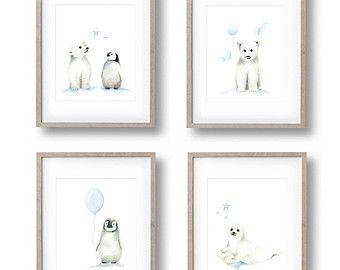 Safari Animal impresiones de dibujo de lápiz por studioQgallery