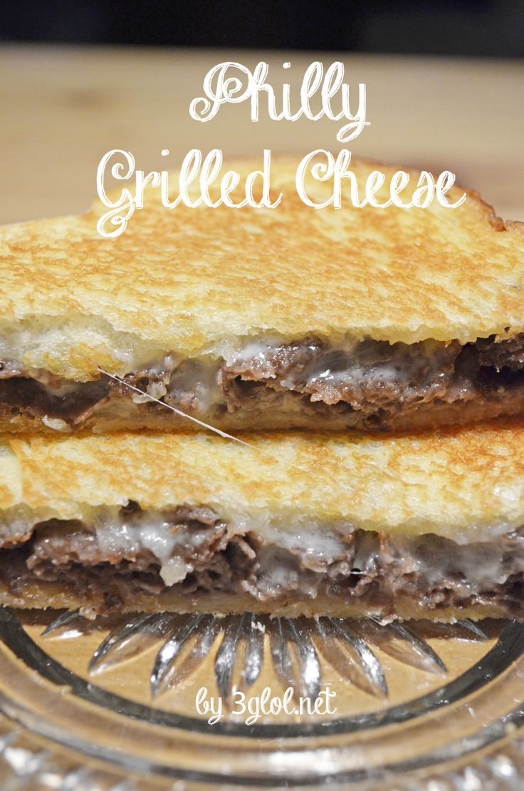 Philly Grilled Cheese.  Thinly sliced steak meat, provolone cheese and ranch dressing grilled on white bread. #grilledcheese #sandwich #phillysteak www.3glol.net