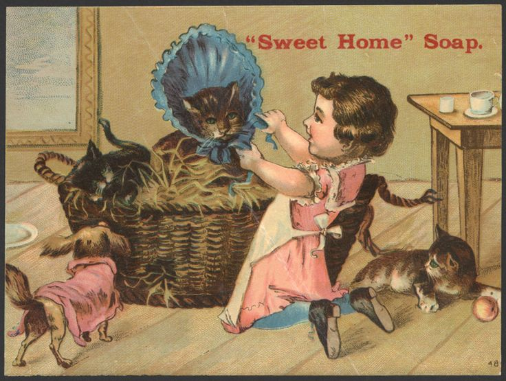 """""""Sweet Home"""" soap - Victorian trade card, ca. 1895"""