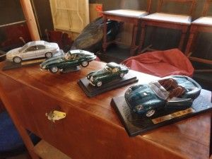 Basement 7 - Provenance Auction House: Four Models of Jaguar Sportscars.