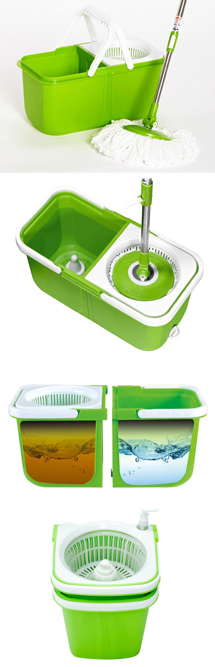 Instamop Set - Keeps dirty and clean sides separate. Stackable for easy storage.