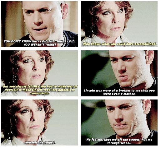 """""""Lincoln was more of a brother to me than you were EVER  mother"""" - Michael and Christina #PrisonBreak ((Hate her!))"""