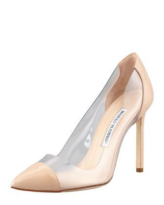 a09589dbedac I would die for this wedding shoe. Pacha Patent-PVC Pump by MANOLO ...