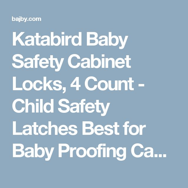 Katabird Baby Safety Cabinet Locks, 4 Count - Child Safety Latches Best for Baby Proofing Cabinets, Sliding Door, Fridge and Drawers - No Drill, Tools, Magnet Or Screws Needed | baby safety | Bajby.com - is the leading kids clothes, toddlers clothes and baby clothes store.