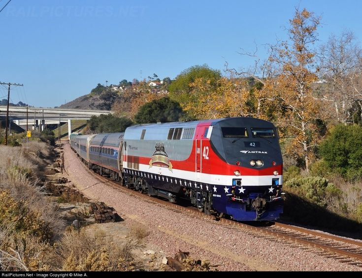 RailPictures.Net Photo: AMTK 42 Amtrak GE P42DC at San Diego, California by Mike A.