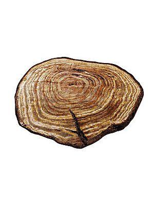 In verblüffend echter Baumscheiben-Optik! Aus 100% Polypropylen.