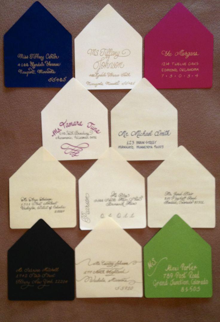 handwrite or print wedding invitation envelopes%0A Hand Addressed Wedding Invitation Envelopes from Sooner Calligraphy  Visit  me  www soonercalligr