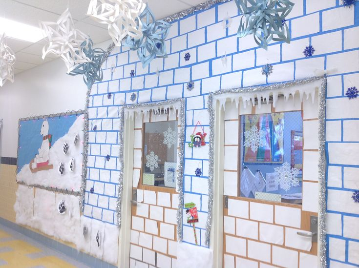 Igloo Door School Door Decorations Christmas Hallway