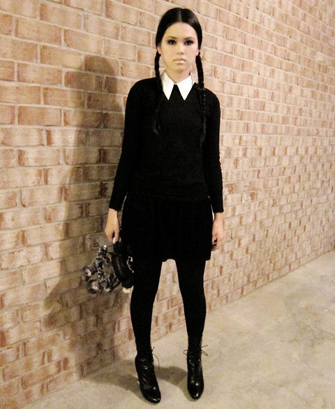 Wednesday Addams for Halloween this year. Yup!