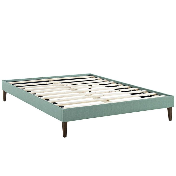 Sharon Queen Fabric Bed Frame with Squared Tapered Legs MOD-5352