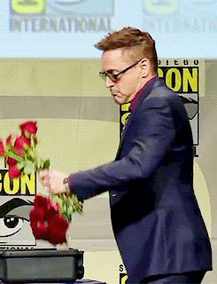 Robert Downey Jr. (or Iron Man, your choice) threw roses at H Hall. | The 21 Most Amazing Things That Happened At Comic-Con This Year
