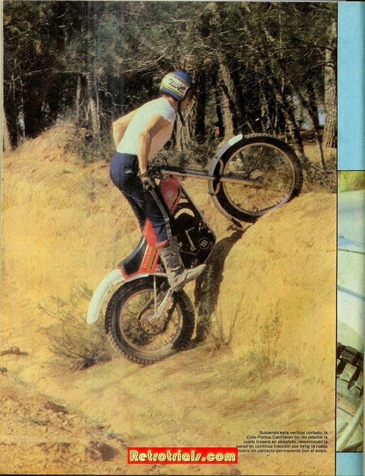 Montesa Cota 349 Cantilever PORTÚS de Antonio Roma. Revista MOTO VERDE nº 28 noviembre 1980