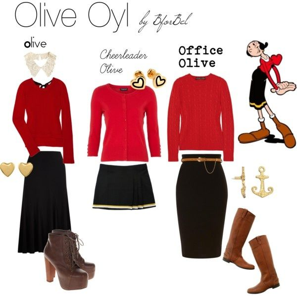 Cheap and Easy Popeye and Olive Oyl tons of Halloween costume ideas! Description…