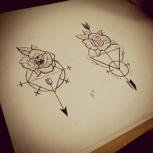 #simpleideas #tatuaje #tattoosketch #tattoo #artwork #art #rosecompass #rose #compass #draw ...