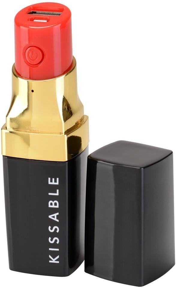 Batterij oplader mobiele telefoon - lippenstift - rood - La Chaise Longue