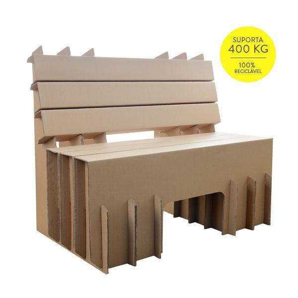 Banco de Praça de Papelão - Cartone Design - Móveis de Papelão