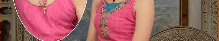 Dark Pink Flare Net Churidar Kameez Online Shopping: SLKGF3681A