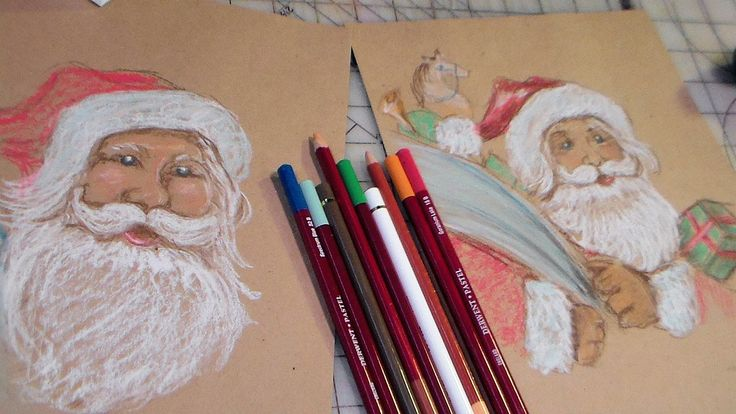 How to draw vintage santa how to draw a pinterest for Video tutorial on watercolor painting