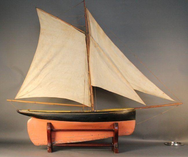 Ships Canada Us Wide Wood Sign: Vintage Pond Yacht ÒAliceÓ