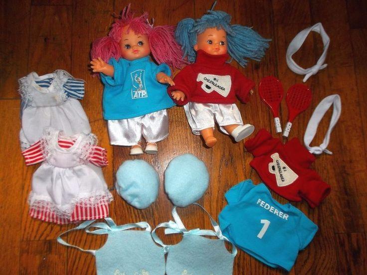 Set Of Two Dolls Cheerleaders Tennis Federer