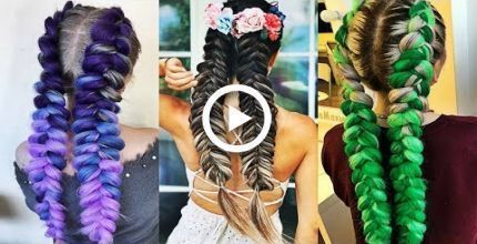 DIY Hair Hacks Every LAZY PERSON Should Know! Quick & Easy Hairstyles for School…, #DIY #d