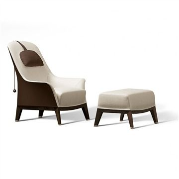 Giorgetti Normal Wing Chair - Style # 5107x, Modern Armchair - Contemporary Armchair - Leather Armchair - Swivel Armchair | SwitchModern.com