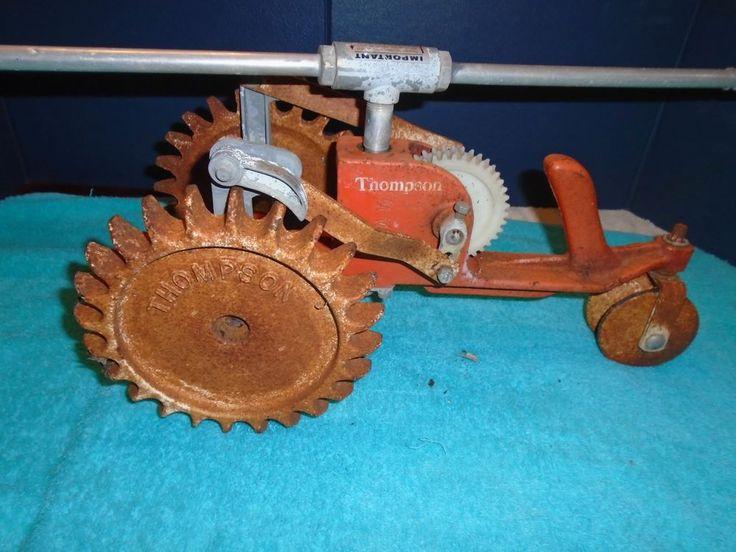 Vintage Thompson Cast Iron Tractor Sprinkler Thompson sprinkler. Lawn sprinkler. #Thompson