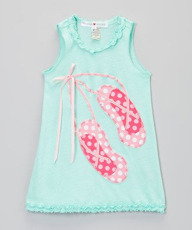 Loving this Pink & Pink Ballet Slippers Ruffle Dress- Infant, Toddler & Girls on #zulily! #zulilyfinds