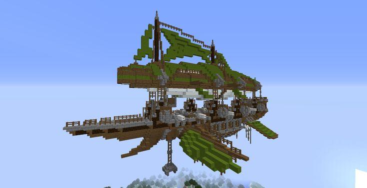 Minecraft Airship Schematic in 2020 | Minecraft, Minecraft ...
