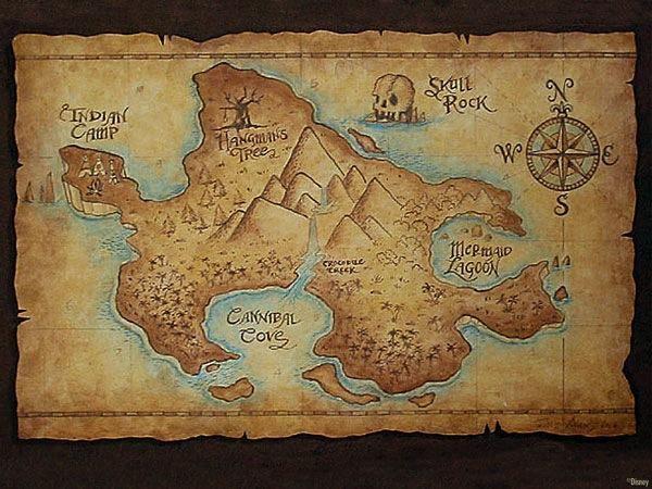 Peter Pan's Neverland map