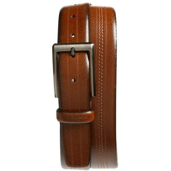 Men's Ted Baker London Aggra Leather Belt (4.810 RUB) ❤ liked on Polyvore featuring men's fashion, men's accessories, men's belts, tan, mens leather belts, mens tan leather belt, mens belts and mens tan belt