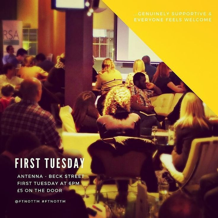 First Tuesday tonight!  Hear from Funbi Sarras an Engineer turned Psychologist on emotional wellbeing self-care & busyness. Alex Hiller Head of postgraduate Programmes at Nottingham Trent Business School will be sharing his passion for ethical fashion.  See you tonight 6pm at Antenna.