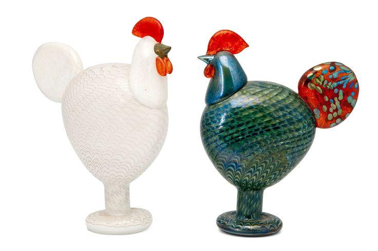 ** Oiva Toikka, Iittala, Nuutajärvi, Finland. Glass Birds.
