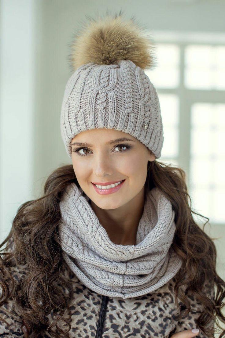 вязание плетенка широкая схема шапка