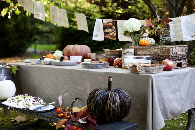 outdoor fall party