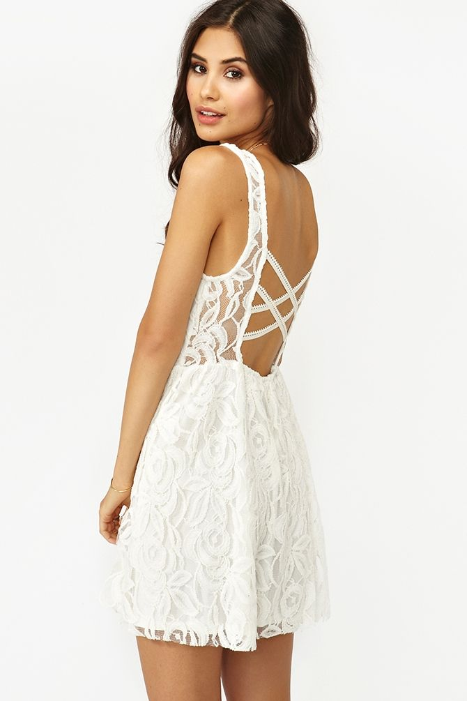 Layla Lace Dress in White