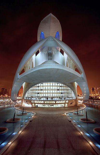 one of my favorites--Calatrava's Auditorio de Valencia, Spain modern #architecture