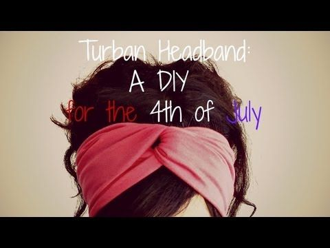 4th of July DIY: No Sew Turban Headbands - YouTube