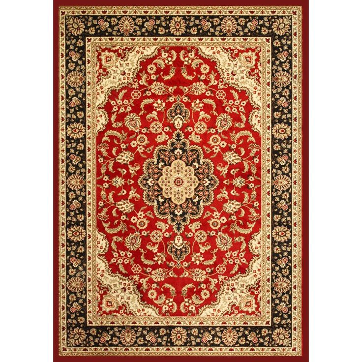 Medallion Kashan Red Polypropylene Rug 710 X 910 By Well Woven
