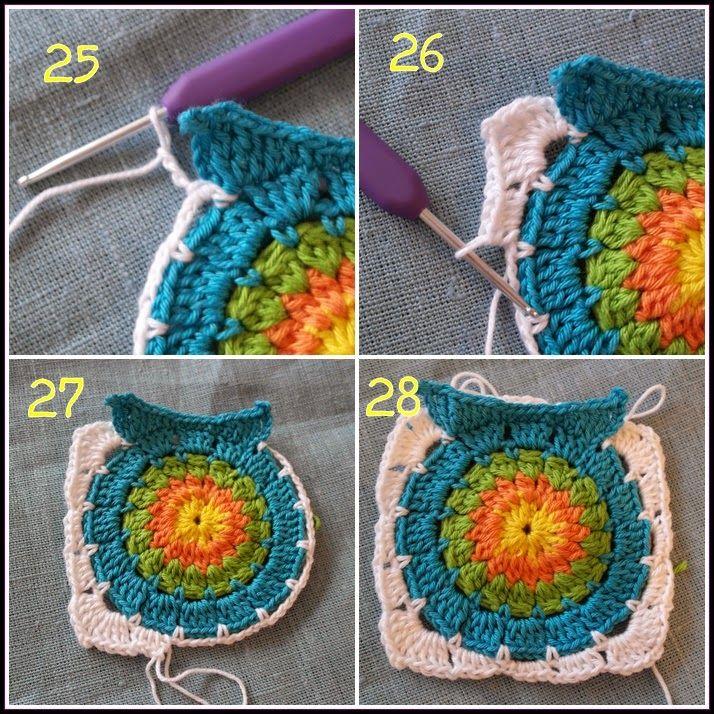 Camillas livsstil: Virkad uggleruta - mönster - Crochet owl square pattern