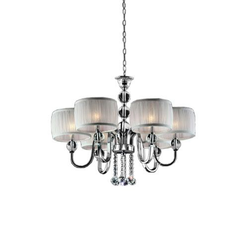 Pharaoh Polished Chrome Six Light 29.5 Inch Chandelier On SALE