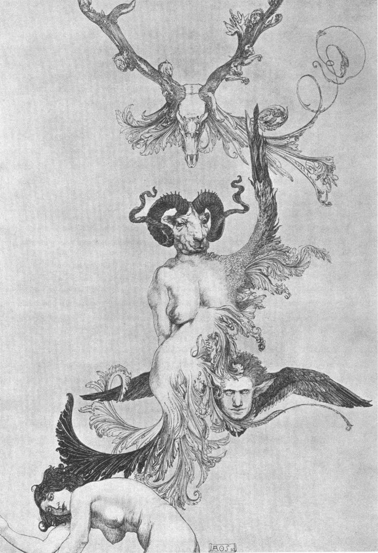 Austin Osman Spare, Ascension of the Ego from Ecstasy to Ecstasy from The Book of Pleasure 1913