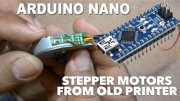 Arduino NANO - How to use stepper motors from Old printers with L298N
