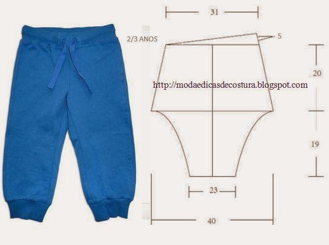 Moda e Dicas de Costura: CALÇA DE CRIANÇA 2_3 ANOS