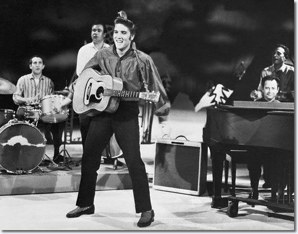 Elvis Presley : The Ed Sullivan Show September 9, 1956 - cameras shot up from the waist up