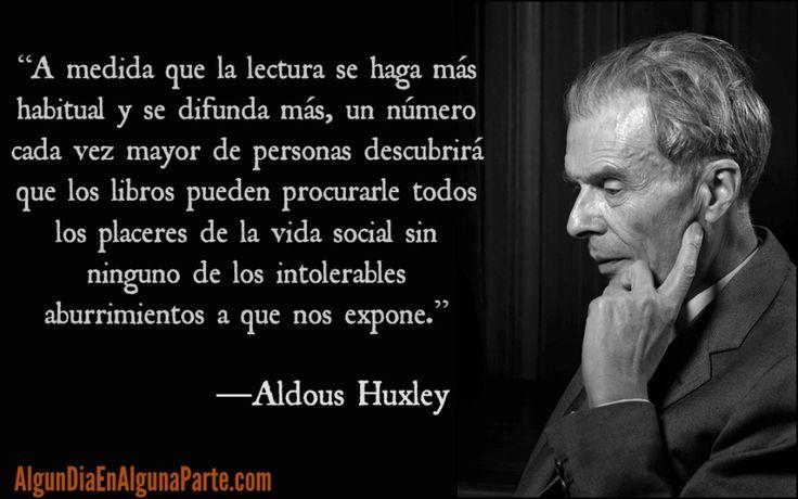 """El 22 de noviembre de 1963 #TalDíaComoHoy falleció el novelista ensayista y poeta británico Aldous Huxley autor de """"Los escándalos de Crome"""" (1921) """"Un mundo feliz"""" (1932) """"La filosofía perenne"""" (1945) """"Las puertas de la percepción"""" (1954) e """"Isla"""" (1962) entre otras obras. Nació el 26 de julio 1894.  #AldousHuxley #Efemérides #Aniversarios #TalDíaComoHoy #Quotes #Literatura #UnDiaComoHoy #Citas #Fallecimientos #FrasesCélebres #AlgunDiaEnAlgunaParte"""
