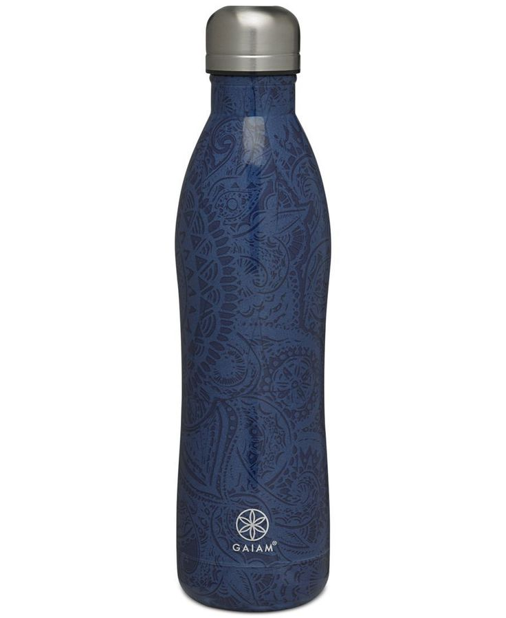 Complete your workout ensemble with this durable Gaiam water bottle and its fun swirled print. | Stainless steel | Hand wash | Imported | 17-oz. capacity | BPA-free | Web ID:4442955